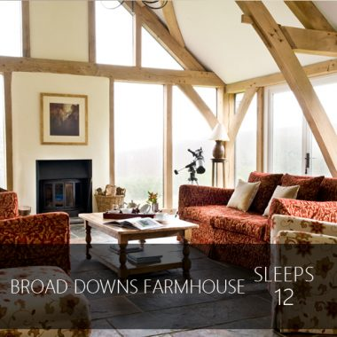 Broad Downs Farmhouse sleeps 12