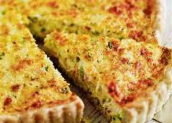 Crab and Leek Tart